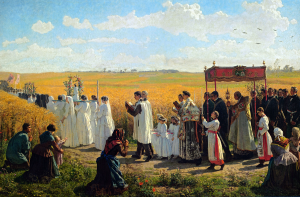268 Blessing of the wheat fields in Artois 1857 300x197 - The Solemnity of Corpus Christi and Eucharistic Processions